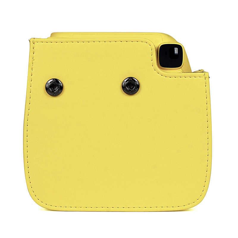 Kualitas Kamera Kulit PU Case untuk Fujifilm Instax Mini 9 Mini 8 Instan Film Kamera, 5 Warna Pelindung Tas dengan Tali Bahu