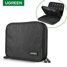 Ugreen torba na dysk twardy torba na Bank mocy skrzynka na bagaż do ipada Mini iPhone SSD zewnętrzny dysk twardy torba na kabel USB