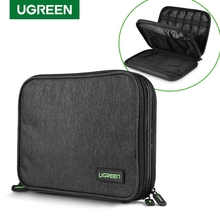 Ugreen Hard Drive Case Bag Power Bank Case Storage Carrying Box for iPad Mini iPhone SSD External Hard Drive Disk USB Cable Bag