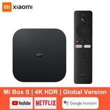 Xiaomi – boîtier Smart TV Mi Box S, Android 9.0, 4K Ultra HD HDR, 2 go/8 go, WiFi, Google Cast, Netflix, lecteur multimédia, décodeur, contrôle