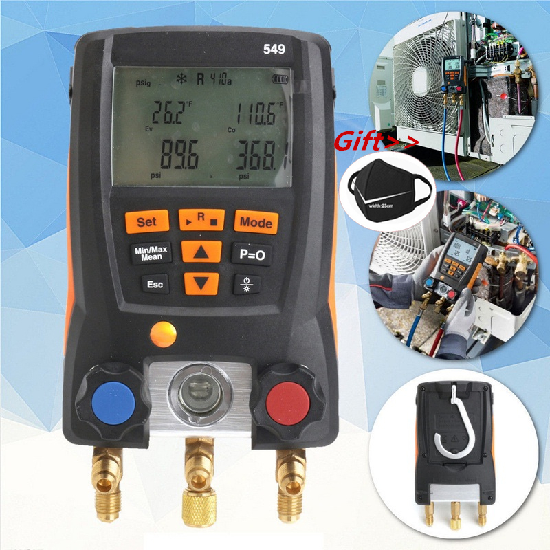Manometer Kälte Testo 549 Digitale Verteiler HVAC Gauge System Kit Meter 0560 0550 LCD Digital Manometer-in Manometer aus Werkzeug bei AliExpress - 11.11_Doppel-11Tag der Singles 1
