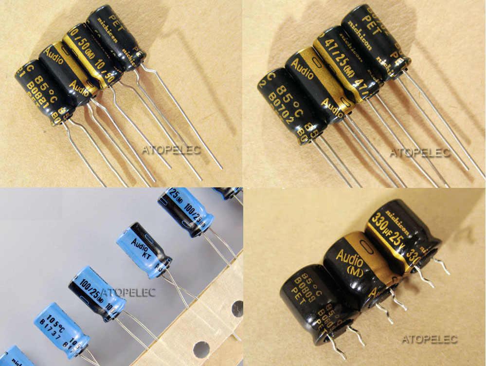 10 Chiếc Nichicon Audio Series Tụ Điện Âm Thanh Hi-Fi 10 UF/47 UF/100 UF/220 UF /330 UF 25 V/50 V/63 V