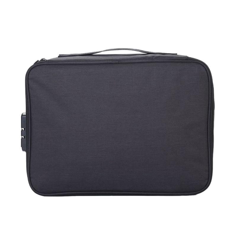 LJL-Large-Capacity Document Family Travel Storage Bag Multifunctional Multilayer Family File Storage Bag Important Items Folder