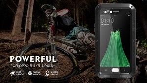Image 2 - Aluminum Metal Case for OPPO R11 LOVE MEI Armor Outdoor Hard Shell Phone Case for OPPO R11s Tempered Glass OPPO R11s Plus Cover