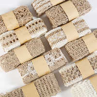2m/roll Natural White Party Crafts Wedding Ribbon Gift Wrapping Hemp Ribbons Jute Burlap DIY Festival Supplies Lace Fabric