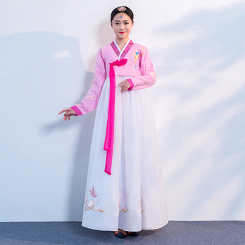 Hanbok Korean Clothing Traditional Embroidery Costume Hanbok Korean Traditional Dress National Women Performance Costumes SL1531