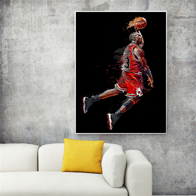 Abstract MJ Fly Dunk Poster 8