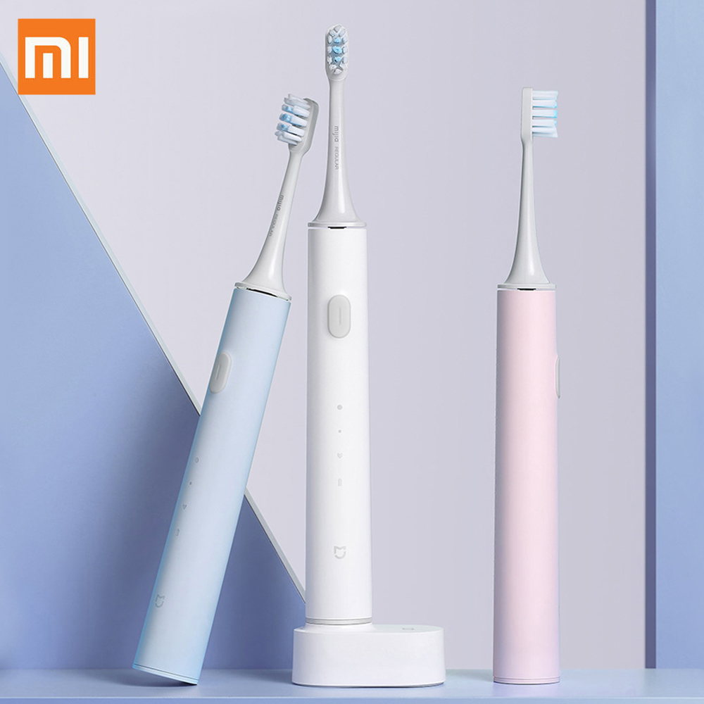 Xiaomi MIJIA T500 Sonic Electric Toothbrush Smart Tooth brush Ultrasonic Whitening Teeth IPX7 Waterproof Vibration Toothbrushes