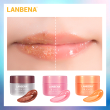 LANBENA Lip Scrub Lip Mask Sleeping Mask Lip Balm Lips Plumper Exfoliator Moisturizing Nourish Repair Fine Lines lip Oil Care