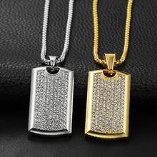 Ожерелье с квадратной цепочкой для мужчин подвеска золотого