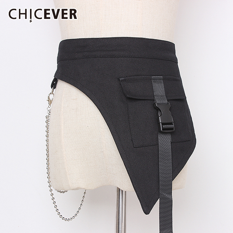 CHICEVER Patchwork Metal Denim Women's Belts Tunic Adornment Adjustable Korean Belt Female 2020 Autumn Fashion New Clothes