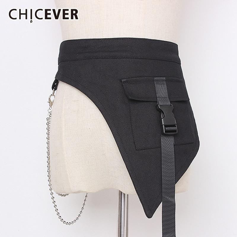 CHICEVER Patchwork Metal Denim Women's Belts Tunic Adornment Adjustable Korean Belt Female 2020 Autumn Fashion New Clothes