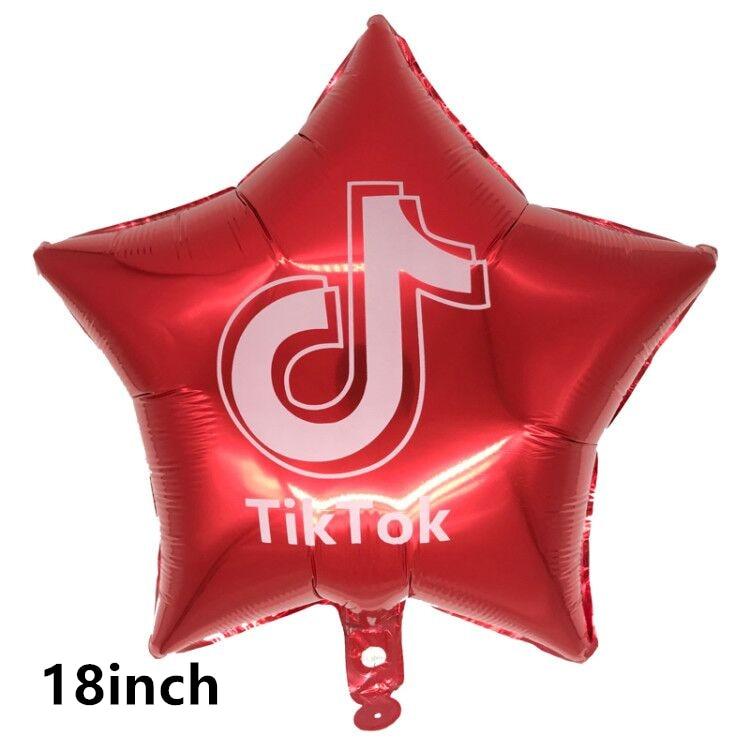 Тик тема фольгированные шары в виде скрипичного ключа, латексные воздушные шары с днем рождения баннер украшение для вечеринки вентиляторы для танцевальной вечеринки телефон блоки игрушки-5