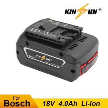 KINSUN Replacement Power Tool Battery 18V 4.0Ah Li-Ion for Bosch Cordless Drill 2 607 336 169 2 607 336 170 BAT609G BAT618G