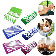 купить Massager Cushion Acupuncture Sets Relieve Stress Back Pain Acupressure Mat/Pillow Massage Mat Rose Spike Massage and Relaxation по цене 1148.26 рублей