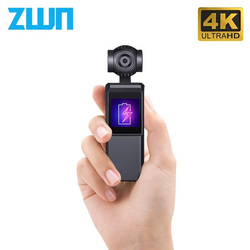 Zwn v8 3-axis 4 k hd câmera cardan handheld estabilizador hi3559v200 + imx258 trilha inteligente wi-fi embutido