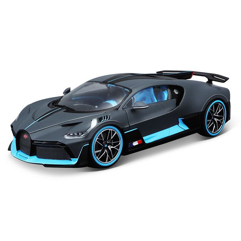 Burago <font><b>1:18</b></font> <font><b>Diecast</b></font> alloy sports <font><b>car</b></font> <font><b>model</b></font> toy For Bugatti Divo with Steering wheel control with original Box boys metal toys image