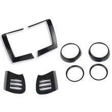 8 шт., накладка на вентиляционное отверстие для BMW MINI Cooper, F55, F56, F57, карбоновые накладки для интерьера, авто, отделка, наклейки