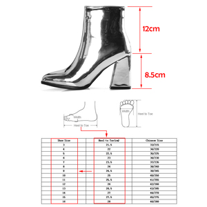Image 5 - Silver Black Sexy Ankle Boots For Women High Heels Boots Ladies Winter Short Boots Shoes Woman Gold Bottines Pour Les Femmes
