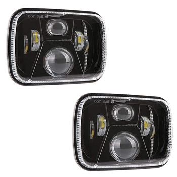 5X7 Inch Led Headlights 7X6 Led Sealed Beam head light lamp with High Low Beam H6054 6054 Led Headlight for Jeep Wrangler YJ Che