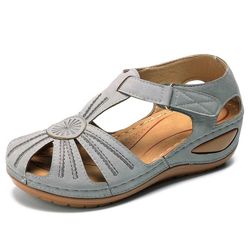Kadın sandalet 2020 yeni yaz ayakkabı kadın yumuşak alt takozlar ayakkabı kadınlar için platform sandaletler topuklu gladyatör Sandalias Mujer