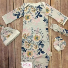 CANIS/комплект из 2 предметов, хлопковое, с цветочным принтом, с длинными рукавами, с круглым вырезом, Пеленальное Одеяло, детский спальный мешок