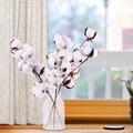Натуральные сухие стебли из хлопка, искусственный цветок для домашнего декора, гирлянда «сделай сам», Свадебный декор, искусственный цвето...