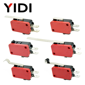 V-15 V-151 V-152 V-153 V-154 V-155 V-156-1C25 Micro Switch 16A 250VAC SPDT Momentary Travel Limit Switch 1NO1NC Lever Roller