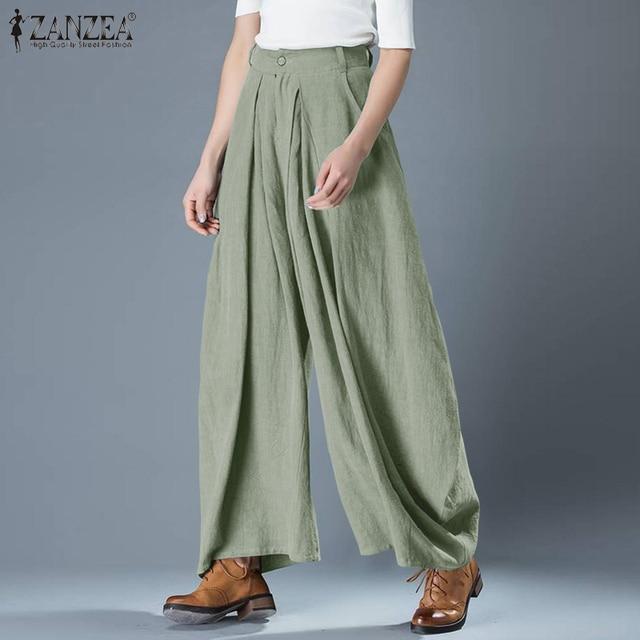 Plus Size Elegant Solid Wide Leg Pants 2