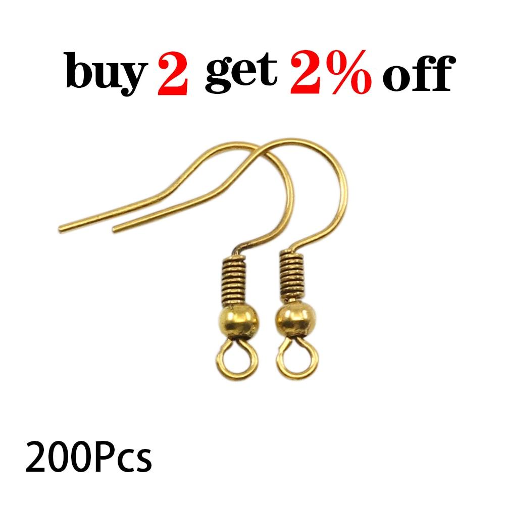 200pcs/lot 20x17mm Earring Findings Ear Clasps Hooks Fittings DIY Jewelry Making Accessories Iron Hook Ear wire Jewelry Supplies 2