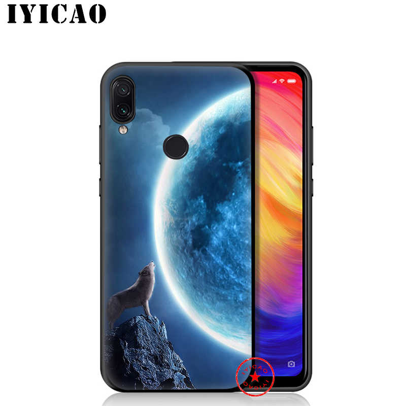 IYICAO ירח השואג וולף רך מקרה עבור Xiaomi Redmi הערה 8 7 6 5 פרו עבור Redmi הערה 5A 4X בחזרה סיליקון