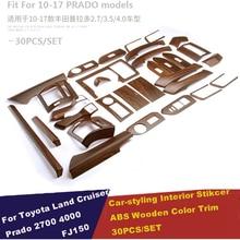 Car Styling Sticker Accessories Interior Moulding Trim For Toyota Land Cruiser Prado 150 LC150 FJ150 2014 2015 2016 2017 30pcs
