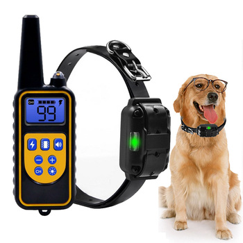 Electronic Shock Dog Training Collar Waterproof Rechargeable Remote Control Pet with LCD Display for Small/Meduim/Large Dogs