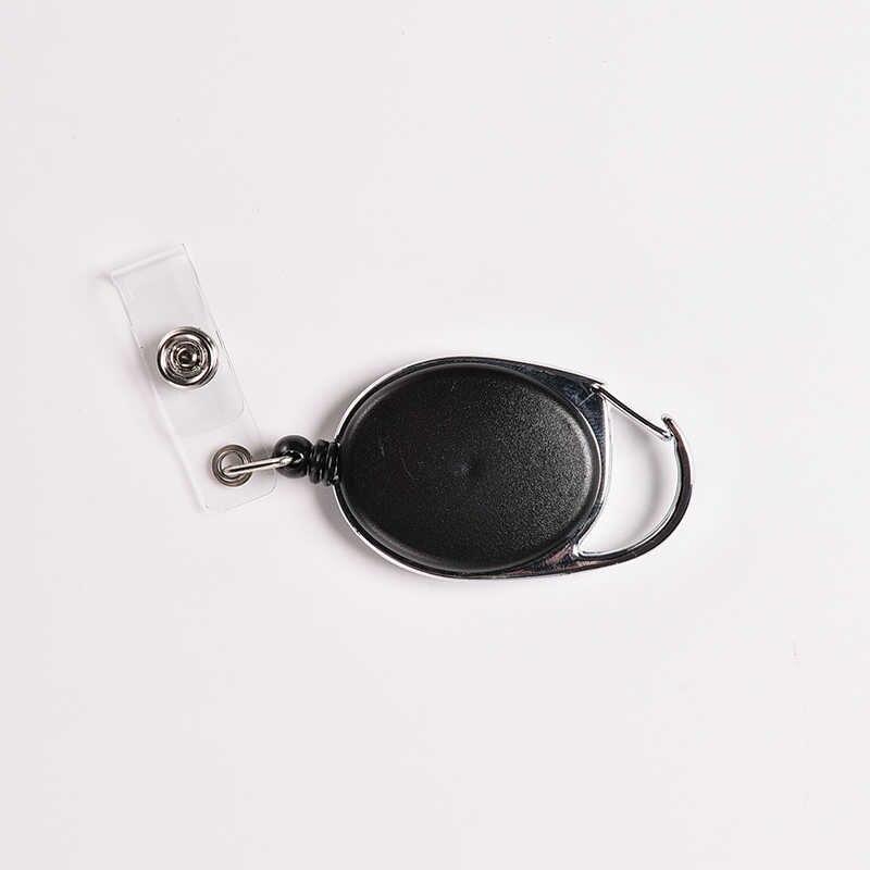 Creative מפתח מחזיק ארגונית למשוך מפתח טבעת מזהה כרטיס תג תג חגורת קליפ שרשרת מחזיק מתכת דיור פלסטיק מכסה חם
