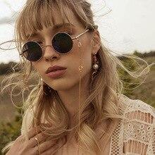 New Simple Double Circle Hanging Sunglasses Chain Women Non-slip Eyewears Cord H