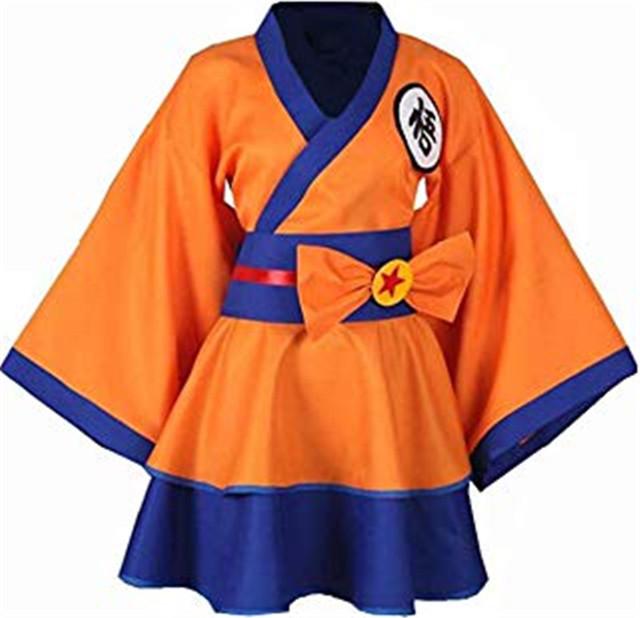Dragonball Z Son Goku Female Lolita Kimono Dress