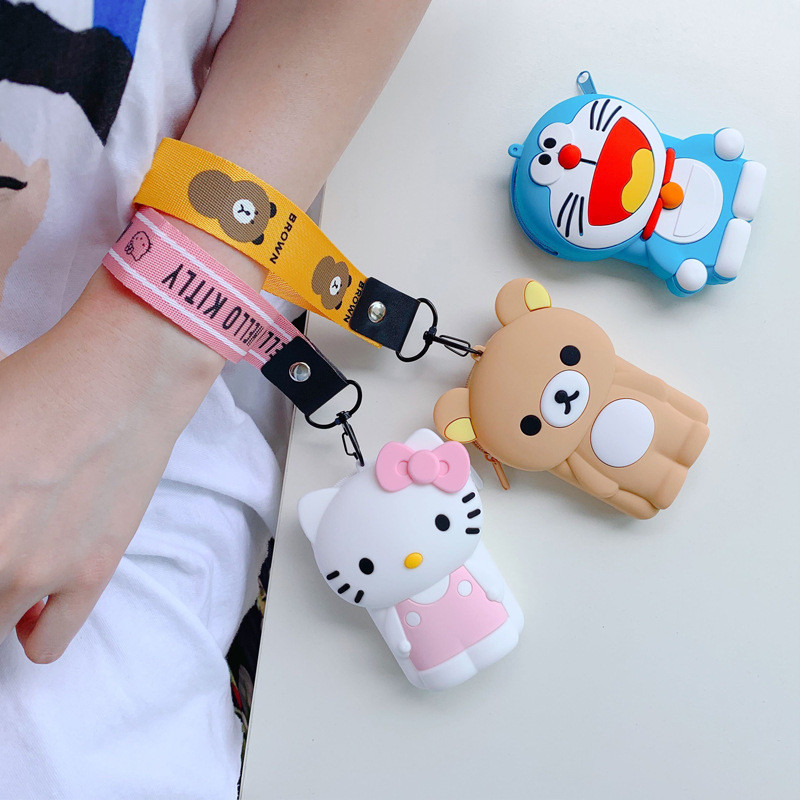 Drop Shipping Fashion Purses Soft Silicone Girls Coin Purses Women Mini Box Storage Bluetooth Earphone Case Box Cute Money Bag