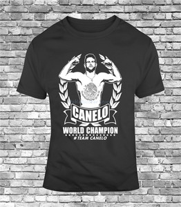 Mens T-Shirt Team Canelo World Champ Boxing Alvarez Mexico Boxing Ggg Golovkin New Cool Tee Shirt(China)