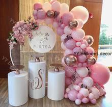109 pçs balões garland arco kit macaron bebê rosa pêssego pastel rosa ouro aniversário do casamento chá de bebê decoração da festa de aniversário