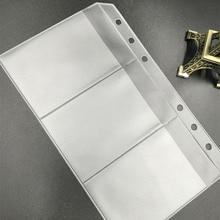 A5 бизнес-держатель для карт папка-вкладыш А6 блокнот сумка для хранения ПВХ ручная учетная запись B5 блокнот аксессуары