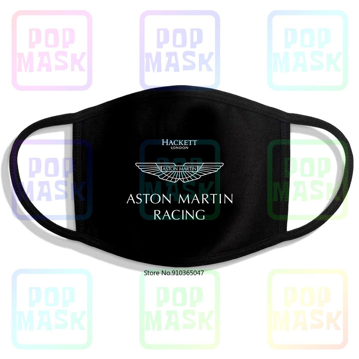 Aston martin racing team nova 2019 mercadoria reutilizável algodão anti poluição rosto máscara boca