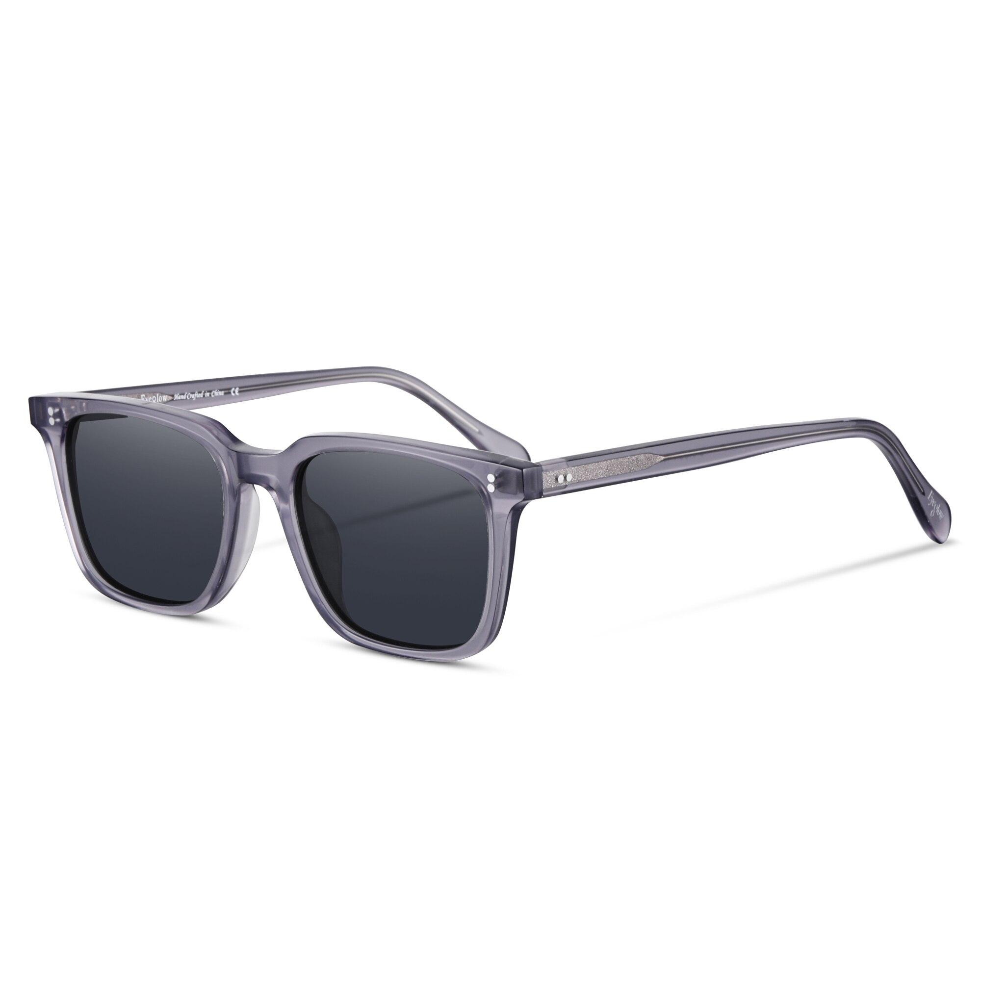 Polarized Sunglasses Women Square Sun Glasses Men Luxury Brand Design Acetate Material