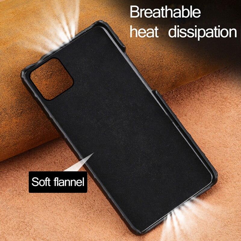 Crocodile En Cuir Véritable étui pour iphone 11 pro max 6.1 Original De Luxe couverture arrière Pour iphone 11 cas xr xs max 7 8 plus fundas - 4
