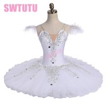 women nutcracker tutu professional ballet swan lake white classical for girls pancake tutuBT9113