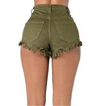 High Waist Pockets Tassel Ripped Short Pants PU27