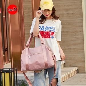 Image 5 - 2020 Women Travel Bag Fitness Gym Bag For Female Training Sports Yoga Sport Bag Carry On Luggage Duffle Tote Handbag XA793WB