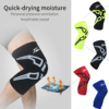 Men Women Fitness Elastic Knee Sleeve Weightlifting Knee Support Brace Cycling Legwarmers Anti-slip Leg Sleeves Custom Logo