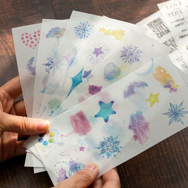 6pcs/pack Cartoon Cute Stickers Stationery Stickers for Decoration DIY Album Diary Planner Bullet Journal Stickers 1