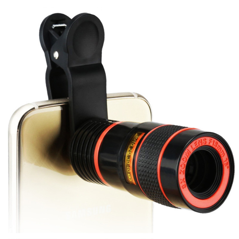 Telescope-Lens Clip Camera Universal-Product Mobile-Phone 8x-Optical-Zoom iPhone/phone-Lens