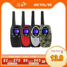 RETEVIS RT628 Mini Walkie Talkie Kids 2pcs 0.5W Portable Childrens radio For Camping Hiking  Birthday Present Christmas Gift
